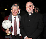 "Cameron Mackintosh and Claude-Michel Schonberg during The Opening Night Actors' Equity Gypsy Robe Ceremony honoring Catherine Ricafort for the New Broadway Production of  ""Miss Saigon""  at the Broadway Theatre on March 23, 2017 in New York City"