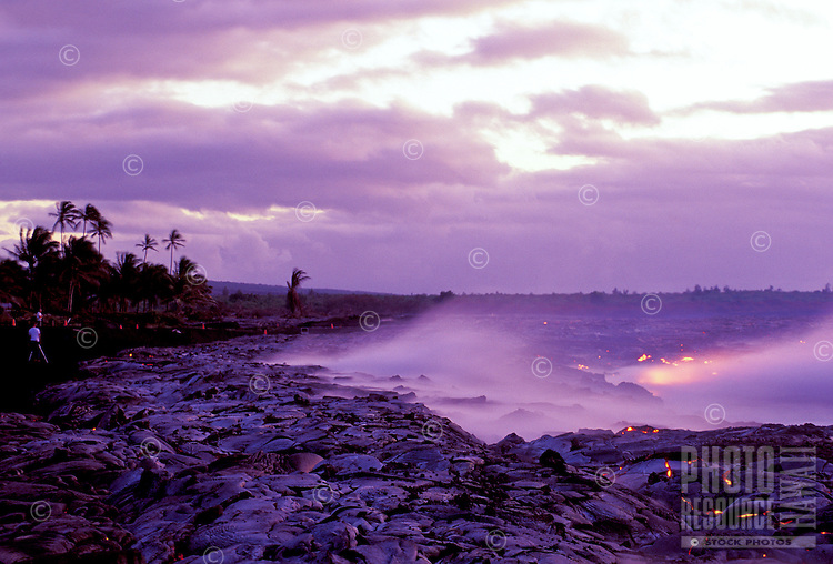 Lava flows at Kamoamoa, Hawaii Volcanoes National Park, Big Island