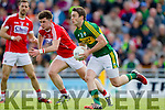 Stephen O'Brien Kerry in action against Daniel Hazel Cork in the National Football league in Austin Stack Park, Tralee on Sunday.