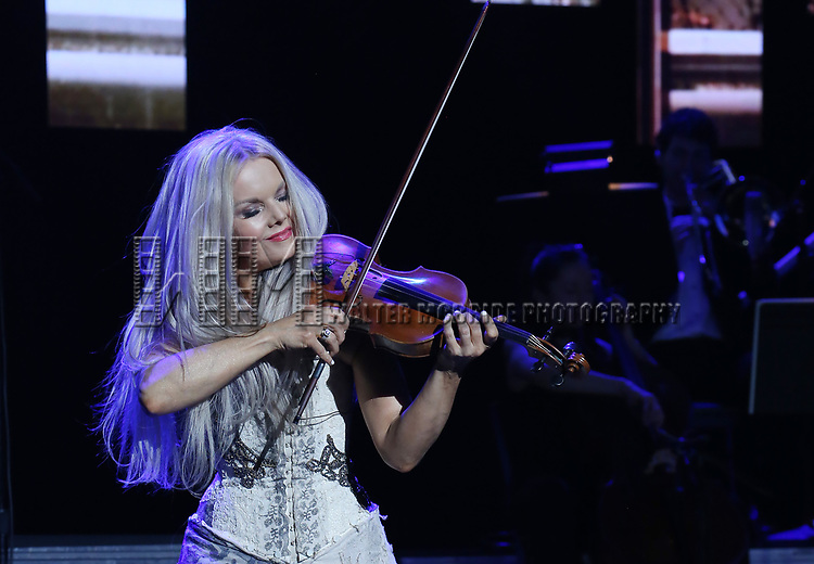 "Mairead Nesbitt during the Broadway Opening Night Performance Curtain Call of  ""Rocktopia"" at The Broadway Theatre on March 27, 2018 in New York City."