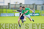 Ardfert's Stephen Leen and Killarney Legion's Tom Slattery... .