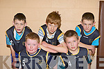 The Leopards team that competed in the Martha Boyle memorial basketball tournament at Currow Community Centre on Sunday l-r: Cian Dennehy, Tomas Fealey, Pierce Daly, Cieran Griffin and Padraig Broderick