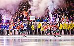 Bolln&auml;s 2014-10-24 Bandy Elitserien Bolln&auml;s GIF - Broberg S&ouml;derhamn  :  <br /> Bolln&auml;s spelare Per Hellmyrs , Oskar Olsson , Jens Lindgren och Jens Wiik g&ouml;r entr&eacute; p&aring; S&auml;vsta&aring;s IP framf&ouml;r Bolln&auml;s publik och ungdomslag fr&aring;n Mini World Cup inf&ouml;r matchen mellan Bolln&auml;s GIF och Broberg S&ouml;derhamn  <br /> (Foto: Kenta J&ouml;nsson) Nyckelord:  Bolln&auml;s GIF BGIF Giffarna S&auml;vsta&aring;s IP &Aring;sen Broberg S&ouml;derhamn BIF portr&auml;tt portrait supporter fans publik supporters