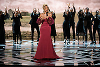 Mary J. Blige performs &quot;Mighty River&quot; from &quot;Mudbound&quot; during the live ABC Telecast of The 90th Oscars&reg; at the Dolby&reg; Theatre in Hollywood, CA on Sunday, March 4, 2018.<br /> *Editorial Use Only*<br /> CAP/PLF/AMPAS<br /> Supplied by Capital Pictures