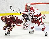 Cam Atkinson (BC - 13), Peter Starrett (Harvard - 14) - The Boston College Eagles defeated the Harvard University Crimson 3-2 on Wednesday, December 9, 2009, at Bright Hockey Center in Cambridge, Massachusetts.