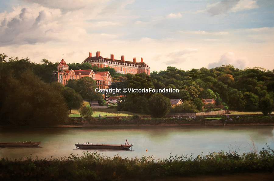 BNPS.co.uk (01202 558833)<br /> Pic: VictoriaFoundation/BNPS<br /> <br /> Carl Laubin - The Star and Garter Revisited.<br /> <br /> The only view in England which is considered so beautiful it is protected by an Act of Parliament has been captured by various artists in a new book.<br /> <br /> The view from Richmond Hill in London would normally have been buried under urban sprawl as the capital has grown over the last hundred years, but thanks to the enlightened Act of 1902 this idyllic oasis still survives<br /> <br /> Under the Richmond, Ham and Petersham Open Spaces Act (1902), no construction was allowed which would impinge on the picturesque view from Richmond Hill in south-west London made famous by artist's such as JMW Turner in the previous century.<br /> <br /> Prominent in the panorama - perched on top of Richmond Hill - is the Grade II listed Star and Garter Building which until recently housed injured ex-servicemen but has now been converted into 84 apartments.<br /> <br /> Seventeen artists were commissioned for the project - which also included an exhibition - and they have created idyllic snapshots of the Star and Garter Building, Richmond Park and the river Thames from different vantage points.