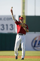 May 2, 2010: David Flores of the Lancaster JetHawks during game against the Lake Elsinore Storm at Clear Channel Stadium in Lancaster,CA.  Photo by Larry Goren/Four Seam Images