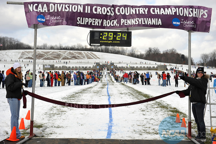 22 NOV 2008:  The Division II Men's Cross Country Championship takes place at the Cooper's Lake Campground in Slippery Rock, PA. Stephen Nowland/NCAA Photos