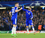 Chelsea's Diego Costa celebrates scoring his sides opening goal<br /> <br /> - UEFA Champions League - Chelsea vs Paris Saint Germain - Stamford Bridge - London - England - 9th March 2016 - Pic David Klein/Sportimage