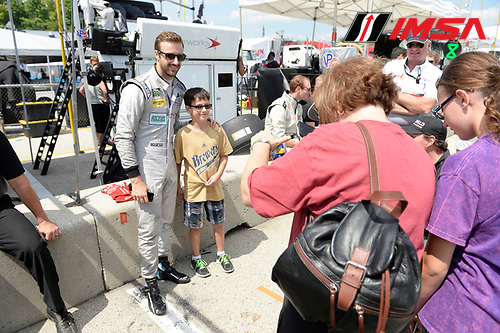 8-10 August  2014, Elkhart Lake, Wisconsin USA<br /> 78, Honda, Riley DP, P, James Hinchcliffe<br /> &copy;2014, Richard Dole<br /> LAT Photo USA for IMSA