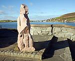 Rock sculpture, Scalloway, Shetland Islands, Scotland
