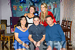 Celebrating his 18th birthday on Friday night was Anthony Lonergan from Muing Tralee at the Greyhound Bar .Pictured front l-r Martina Hurley, Anthony Lonergan, Anthony Lonergan Senior, Ciara Lonergan and Chloe Lonergan