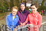 Pictured are students from Milltown Presentation Secondary School at the KES Inter Schools Orienteering day in Ballyseedy woods on Thursday, from left: Erin Keogh, Maz Fanning (Instructor) and Blaithin Murphy.