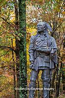 63895-16115 Shawnee chief Tecumseh statue Saline County State Fish & Wildlife Area  Saline Co. IL