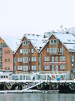 Buildings at the dock in Tromso, Norway