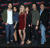 NEW YORK, NY - October 6: Mark-Paul Gosselaar, Emmanuelle Chriqui, Brianne Howey, Liz Heldens, Vincent Piazza, Justin Cronin at New York Comic Con 2018 promoting FOX TV's The Passage at the Jacob K. Javits Convention Center in New York City on October 06, 2018. <br /> CAP/MPI/RW<br /> &copy;RW/MPI/Capital Pictures