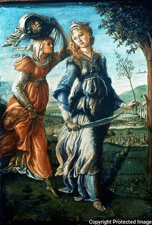 Renaissance Art:  Botticelli--Judith.  Galleria Uffizi.