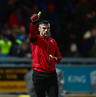 Lincoln City's Matt Gilks during the pre-match warm-up<br /> <br /> Photographer Andrew Vaughan/CameraSport<br /> <br /> The EFL Sky Bet League Two - Mansfield Town v Lincoln City - Monday 18th March 2019 - Field Mill - Mansfield<br /> <br /> World Copyright © 2019 CameraSport. All rights reserved. 43 Linden Ave. Countesthorpe. Leicester. England. LE8 5PG - Tel: +44 (0) 116 277 4147 - admin@camerasport.com - www.camerasport.com