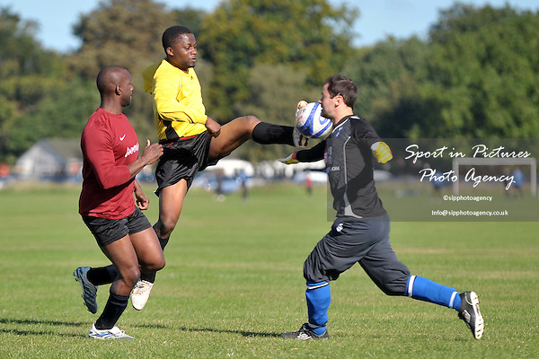 ELT Vs Blackhorse Road. North East London and Essex Churches Football League. Wanstead Flats. London. 25/09/2010.  Credit Sportinpictures/Garry Bowden
