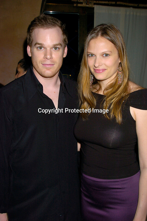 Michael C Hall and Vinessa Shaw ..at the Showtime Tribeca Film Festival party on May 7, 2004 at Nobu in New York City. ..Photo by Robin Platzer, Twin Images
