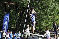 FIERLJEPPEN: GRIJPSKERK: 27-08-2016, Nederlands Kampioenschap Fierljeppen/Polsstokverspringen, Nard Brandsma, ©foto Martin de Jong