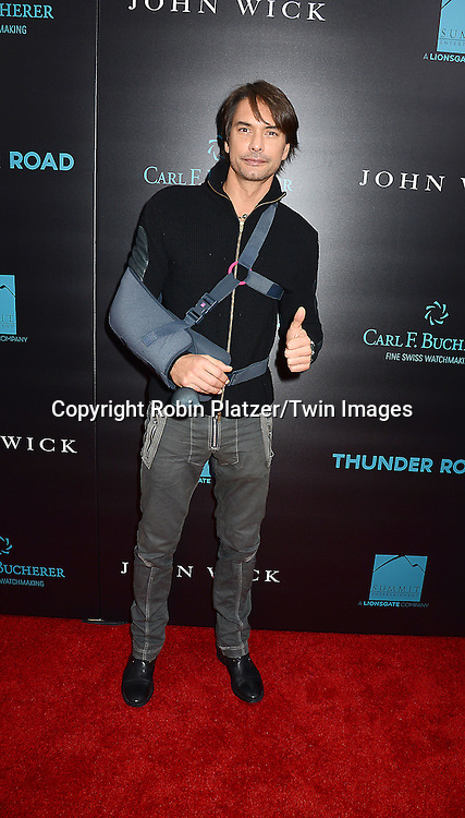 Marcus Schenkenberg attends the Special Screening of &quot;John Wick&quot;  on October 13, 2014 at the Regal Union Square Stadium 14 in New York City.<br /> <br /> photo by Robin Platzer/Twin Images<br />  <br /> phone number 212-935-0770