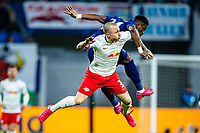 10th March 2020, Red Bull Arena, Leipzig, Germany; EUFA Champions League, RB Leipzig v Tottenham Hotspur; Marcelo Saracchi  of RB Leipzig with a heavy challenge on Serge Aurier  24 Tottenham
