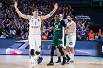 Real Madrid Luka Doncic and Panathinaikos Thanasis Antetokounmpo during Turkish Airlines Euroleague Quarter Finals 4th match between Real Madrid and Panathinaikos at Wizink Center in Madrid, Spain. April 27, 2018. (ALTERPHOTOS/Borja B.Hojas)