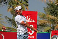 Johan Edfors (SWE) tees off on the 14th tee during Saturday's  Round 3 of the 2012 Omega Dubai Desert Classic at Emirates Golf Club Majlis Course, Dubai, United Arab Emirates, 11th February 2012(Photo Eoin Clarke/www.golffile.ie)