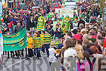 Large crowds attend the annual St Patrick's Day Parade in Abbeyfeale last Saturday afternoon.