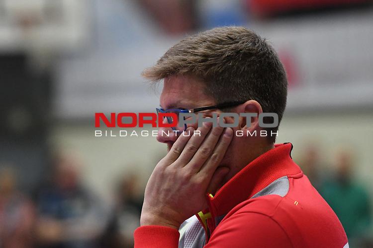 01.12.2018,  Lueneburg GER, VBL, SVG Lueneburg vs TV Rottenburg im Bild Trainer Stefan Huebner (Hübner Lueneburg)/ Foto © nordphoto / Witke