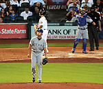 Yu Darvish (Rangers), AUGUST 12, 2013 - MLB : Yu Darvish of the Texas Rangers reacts after 15th striking a batter out during the MLB game between the Texas Rangers and the Houston Astros at Minute Maid Park in Houston, Texas, United States. (Photo by AFLO)