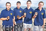 LEFT: The Glen-.Ballinskelligs U-16 crew.who finished in third place.at the Ballinskelligs.Regatta on Sunday. L-r:.Jonathan Murphy, Kevin.O'Sullivan, Naoise Tarrant.and John F O'Shea.
