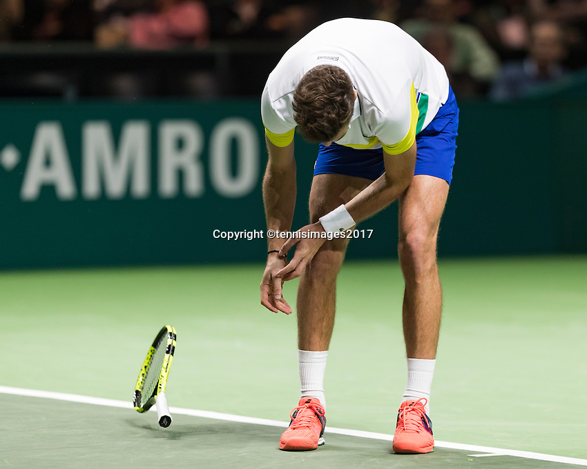 ABN AMRO World Tennis Tournament, Rotterdam, The Netherlands, 14 februari, 2017, Marin Cilic (CRO)<br /> Photo: Henk Koster