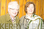 ADMIRING: Lillian Carmody and Eileen O'Keeffe admired the fashion displayed at the Failte Probus Fashion Show in the Ballyroe on Wednesday.