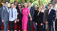 HOLLYWOOD, LOS ANGELES, CA, USA - OCTOBER 29: Simon Helberg, Kunal Nayyar, Melissa Rauch, Johnny Galecki, Kaley Cuoco, Jim Parsons, Chuck Lorre at the ceremony honoring Kaley Cuoco with a star in the Hollywood Walk Of Fame on October 29, 2014 in Hollywood, Los Angeles, California, United States. (Photo by Xavier Collin/Celebrity Monitor)