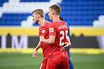 Jubel ueber das 0:2: Torschuetze Dani Olmo (Leipzig, r.) mit Timo Werner (Leipzig, l.).<br /> <br /> Sport: Fussball: 1. Bundesliga: Saison 19/20: 31. Spieltag: TSG 1899 Hoffenheim - RB Leipzig, 12.06.2020<br /> <br /> Foto: Markus Gilliar/GES/POOL/PIX-Sportfotos