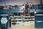 Pieter Devos of Belgium riding Equipharma Dax van 'Dabdijhoev competes at the HKJC Trophy during the Longines Hong Kong Masters 2015 at the AsiaWorld Expo on 13 February 2015 in Hong Kong, China. Photo by Xaume OIleros / Power Sport Images
