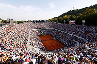Una veduta del Campo Centrale durante la finale degli Internazionali d'Italia di tennis tra Novak Djokovic e Roger Federer, a Roma, 17 maggio 2015.<br /> An overview of the Foro Italico's Central Court during the final match of the italian Masters tennis between Novak Djokovic and Roger Federer, in Rome, 17 May 2017.<br /> UPDATE IMAGES PRESS/Riccardo De Luca