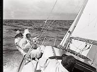 A bord de Pénélope II, une des premières victoires française au championnat du RORC.