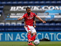 11th July 2020; Deepdale Stadium, Preston, Lancashire, England; English Championship Football, Preston North End versus Nottingham Forest;  Lewis Grabban of Nottingham Forest scores his side's first goal from the penalty spot to make the score 1-0 after five minutes