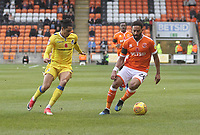 Blackpool's Liam Feeney in action with Bristol Rovers' Daniel Leadbitter<br /> <br /> Photographer Mick Walker/CameraSport<br /> <br /> The EFL Sky Bet League One - Blackpool v Bristol Rovers - Saturday 3rd November 2018 - Bloomfield Road - Blackpool<br /> <br /> World Copyright &copy; 2018 CameraSport. All rights reserved. 43 Linden Ave. Countesthorpe. Leicester. England. LE8 5PG - Tel: +44 (0) 116 277 4147 - admin@camerasport.com - www.camerasport.com