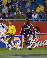 New England Revolution midfielder Sainey Nyassi (31). The Kansas City Wizards defeated the New England Revolution, 3-1, in Gillette Stadium on October 25, 2008. Photo by Andrew Katsampes/isiphotos.com