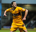 Motherwell's Jamie Murphy celebrates after he scores Motherwell's third goal.