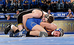 BROOKINGS, SD - DECEMBER 2:  Alex Meyer from Iowa gets riding time on David Kocer from SDSU in their 174 pound match Friday night at Frost Arena in Brookings, SD.(Photo by Dave Eggen/Inertia)