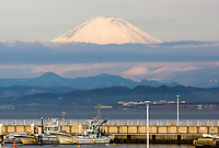 Mount Fuji seen from Enoshima
