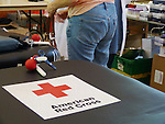WATERBURY, CT- 17 June 2013 061713AP01- A donor gets ready to give blood at the American Red Cross Blood Drive, hosted at the B'nai Israel Temple in Southbury.  Alexandra Pape Republican-American
