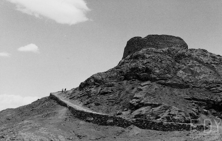 One of the three zoroastrian towers of silence (dokhmah) in the outskirts of Yazd, Iran