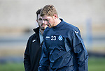 St Johnstone Training…27.10.17<br />Liam Gordon pictured with physio Tony Tompos during training this morning at McDiarmid Park ahead of tomorrows trip to Partick Thistle<br />Picture by Graeme Hart.<br />Copyright Perthshire Picture Agency<br />Tel: 01738 623350  Mobile: 07990 594431