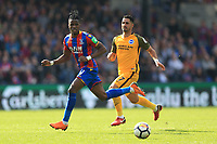 Wilfred Zaha of Crystal Palace during Crystal Palace vs Brighton & Hove Albion, Premier League Football at Selhurst Park on 14th April 2018